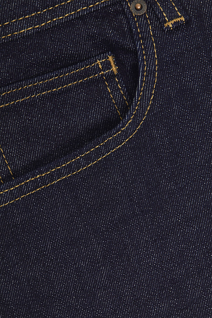 Stretch jeans containing organic cotton, BLUE RINSE, detail image number 5