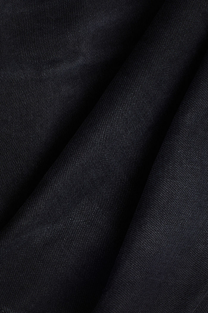 Garment washed jeans, organic cotton, BLACK DARK WASHED, detail image number 4