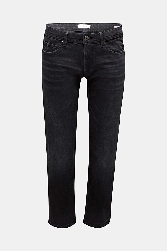 Garment washed jeans, organic cotton