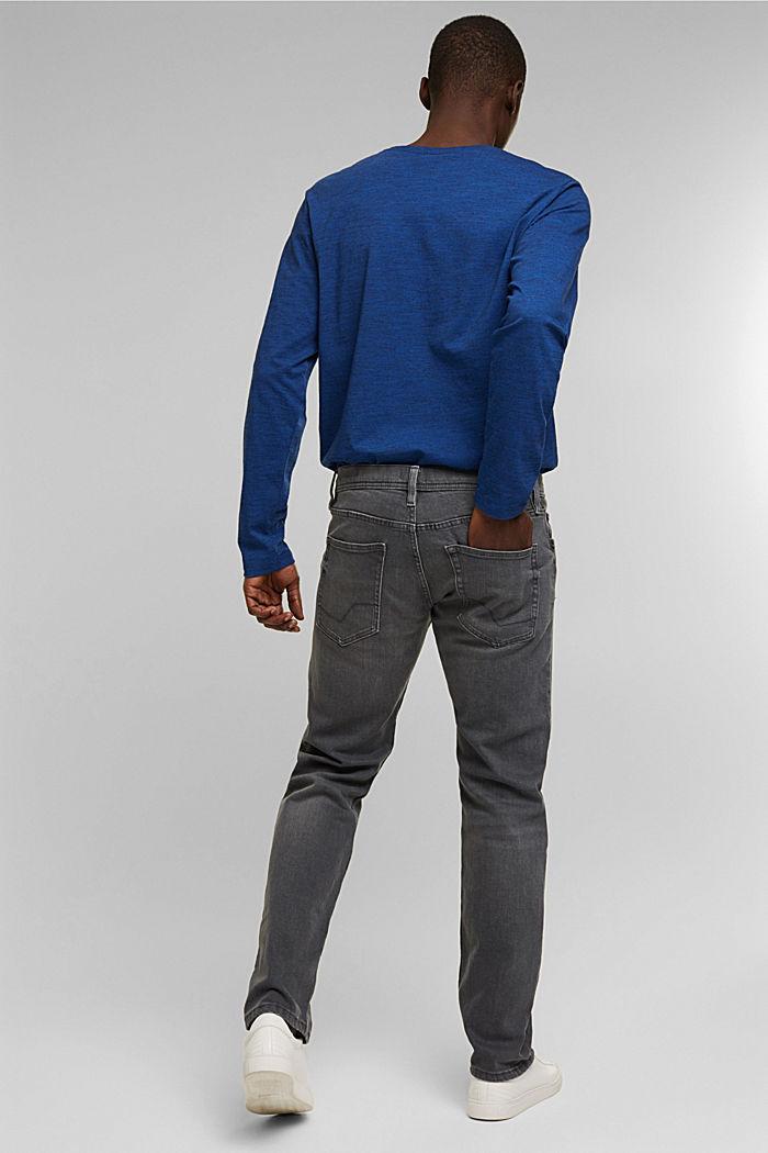 Stretch-Jeans aus Organic Cotton, GREY MEDIUM WASHED, detail image number 1