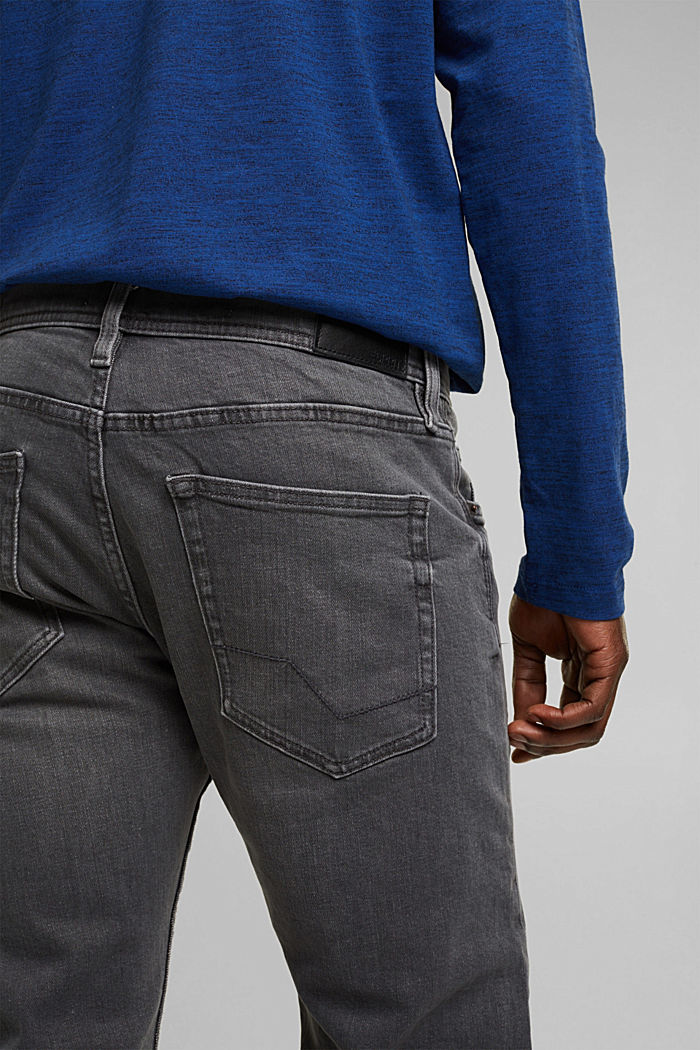 Stretch-Jeans aus Organic Cotton, GREY MEDIUM WASHED, detail image number 4