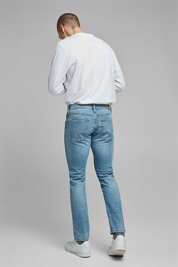 Stretch jeans containing organic cotton, BLUE LIGHT WASHED, detail image number 1