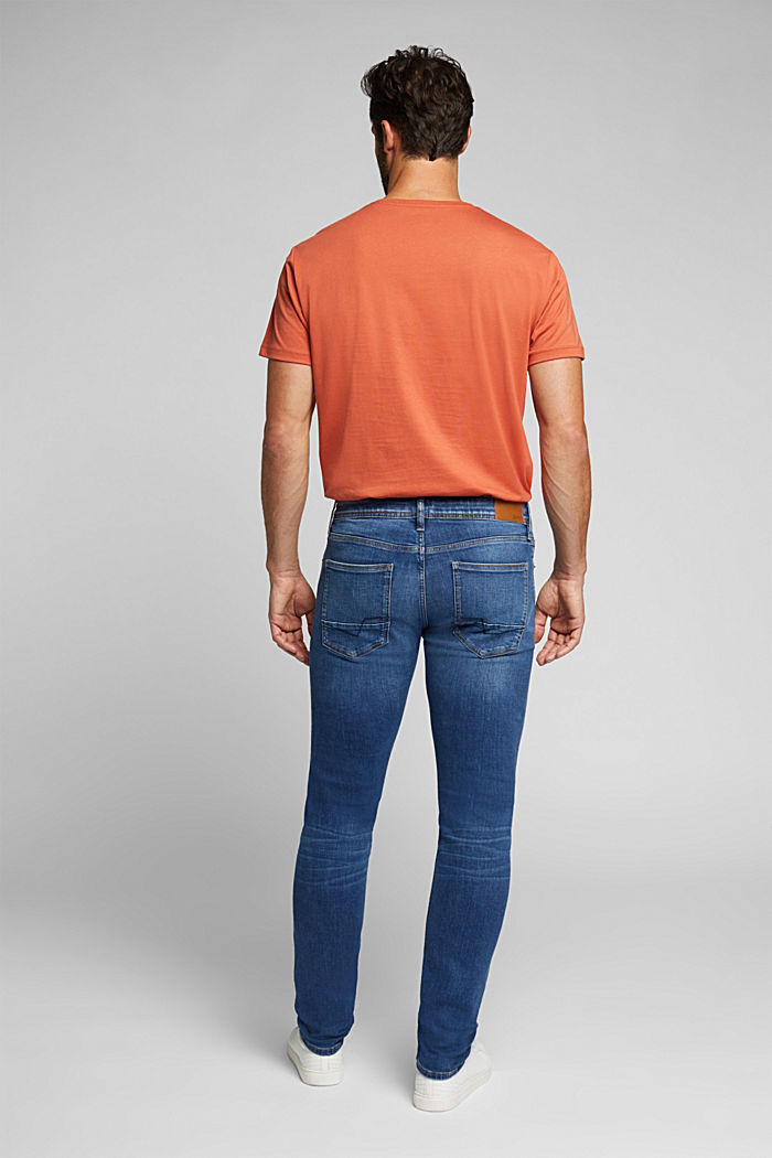 Organic cotton jeans with recycled material, BLUE MEDIUM WASHED, detail image number 1