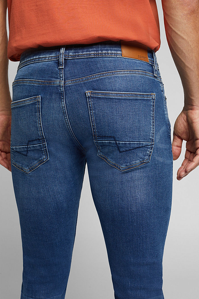Organic Cotton Jeans mit recyceltem Material, BLUE MEDIUM WASHED, detail image number 3