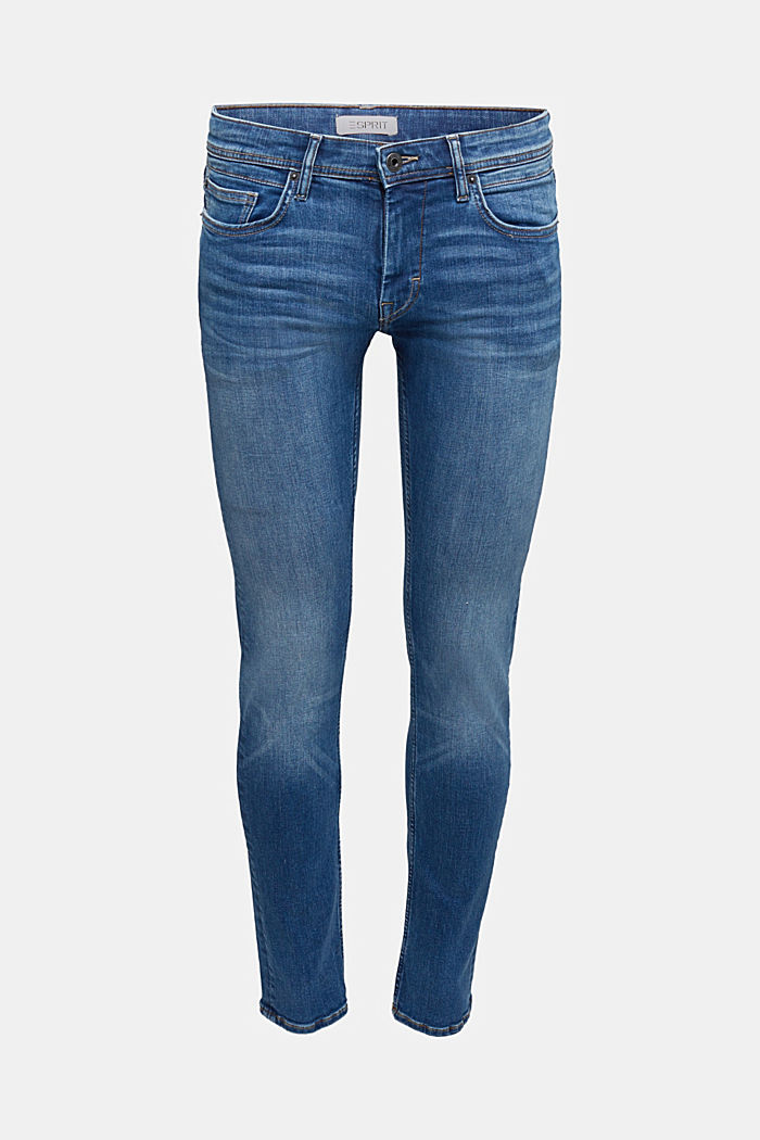Organic cotton jeans with recycled material, BLUE MEDIUM WASHED, detail image number 5