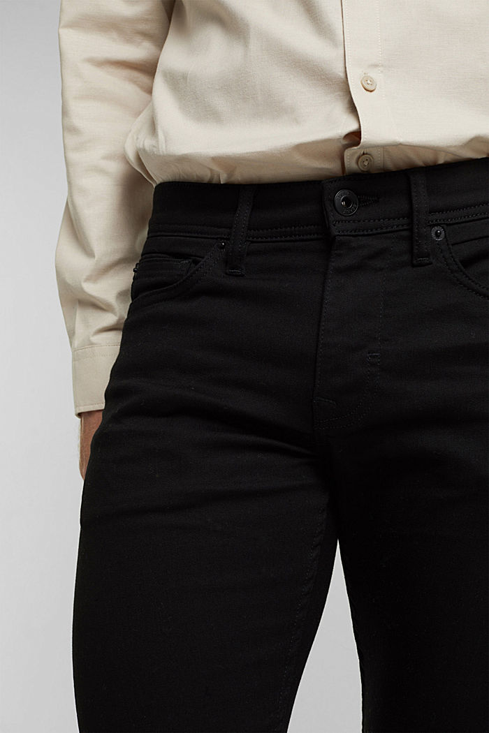 Stretch-Jeans mit Organic Cotton, BLACK RINSE, detail image number 3