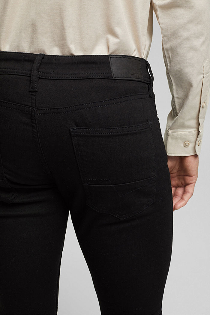 Stretch-Jeans mit Organic Cotton, BLACK RINSE, detail image number 5