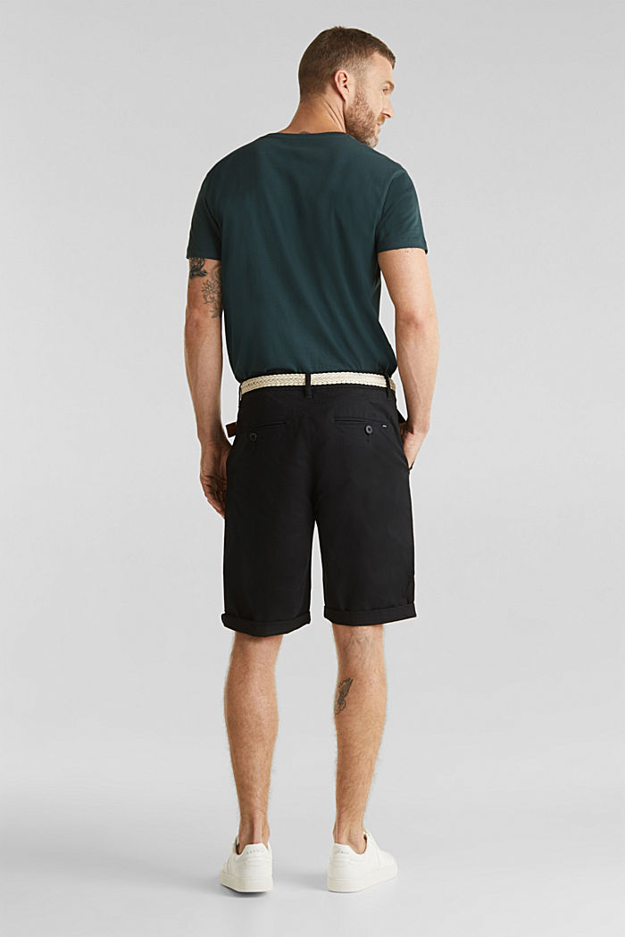 Shorts with organic cotton, BLACK, detail image number 3