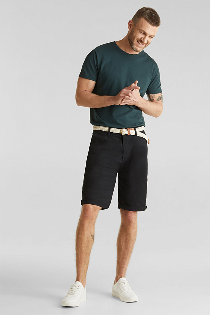 Shorts with organic cotton, BLACK, detail image number 1