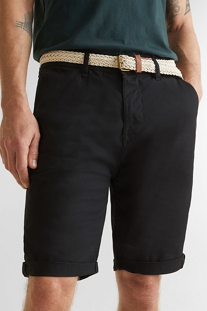 Shorts with organic cotton, BLACK, detail image number 2
