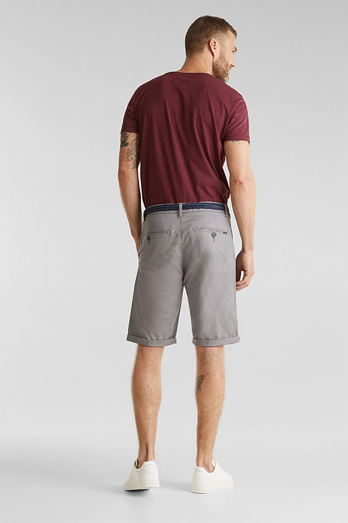 Shorts with organic cotton, GREY, detail image number 3