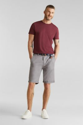 Shorts with organic cotton, GREY, detail