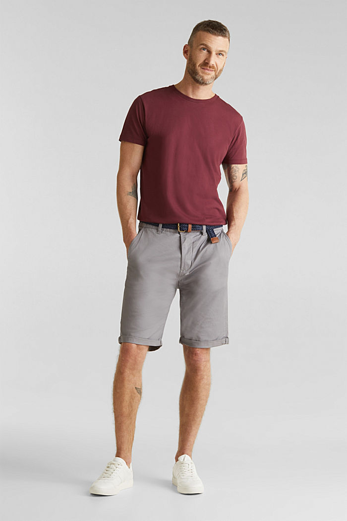 Shorts with organic cotton, GREY, detail image number 1
