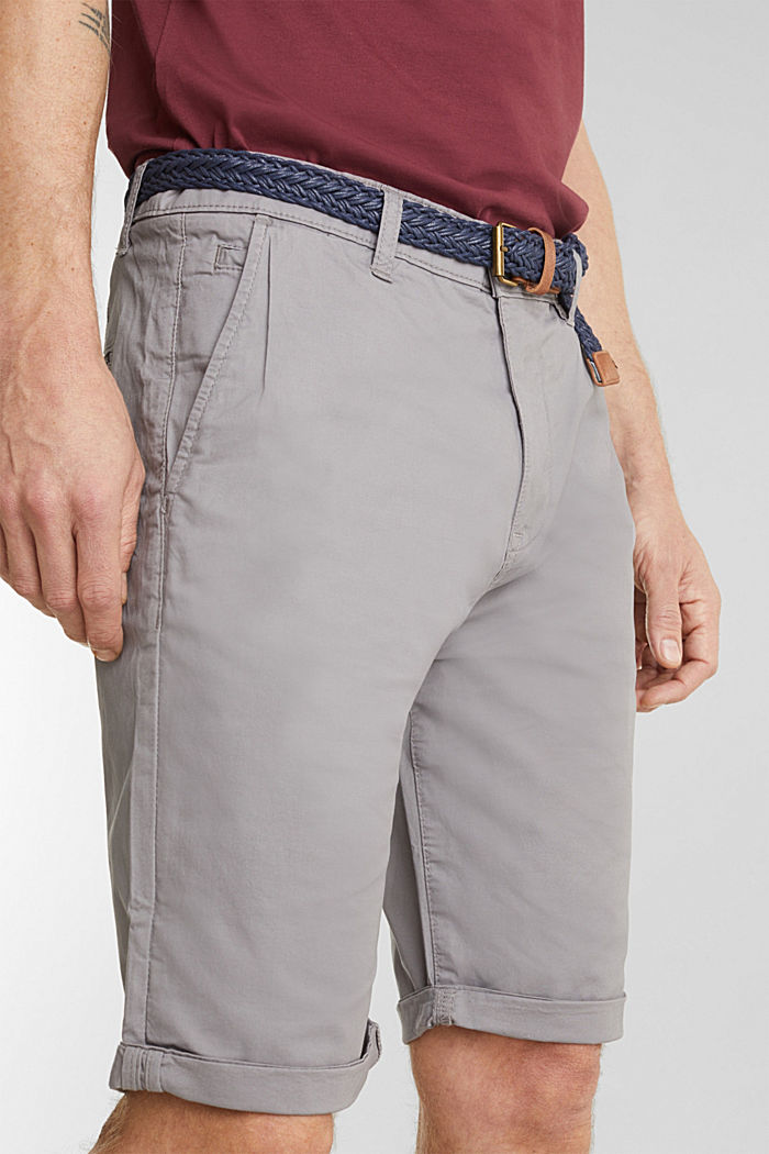 Shorts with organic cotton, GREY, detail image number 2