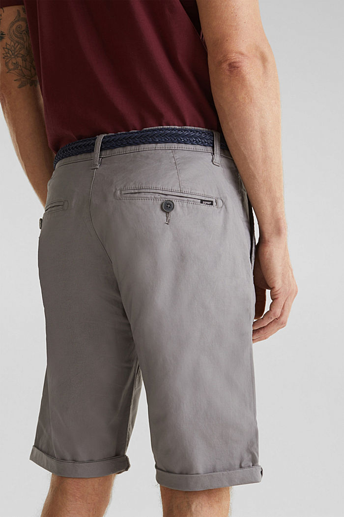 Shorts with organic cotton, GREY, detail image number 5