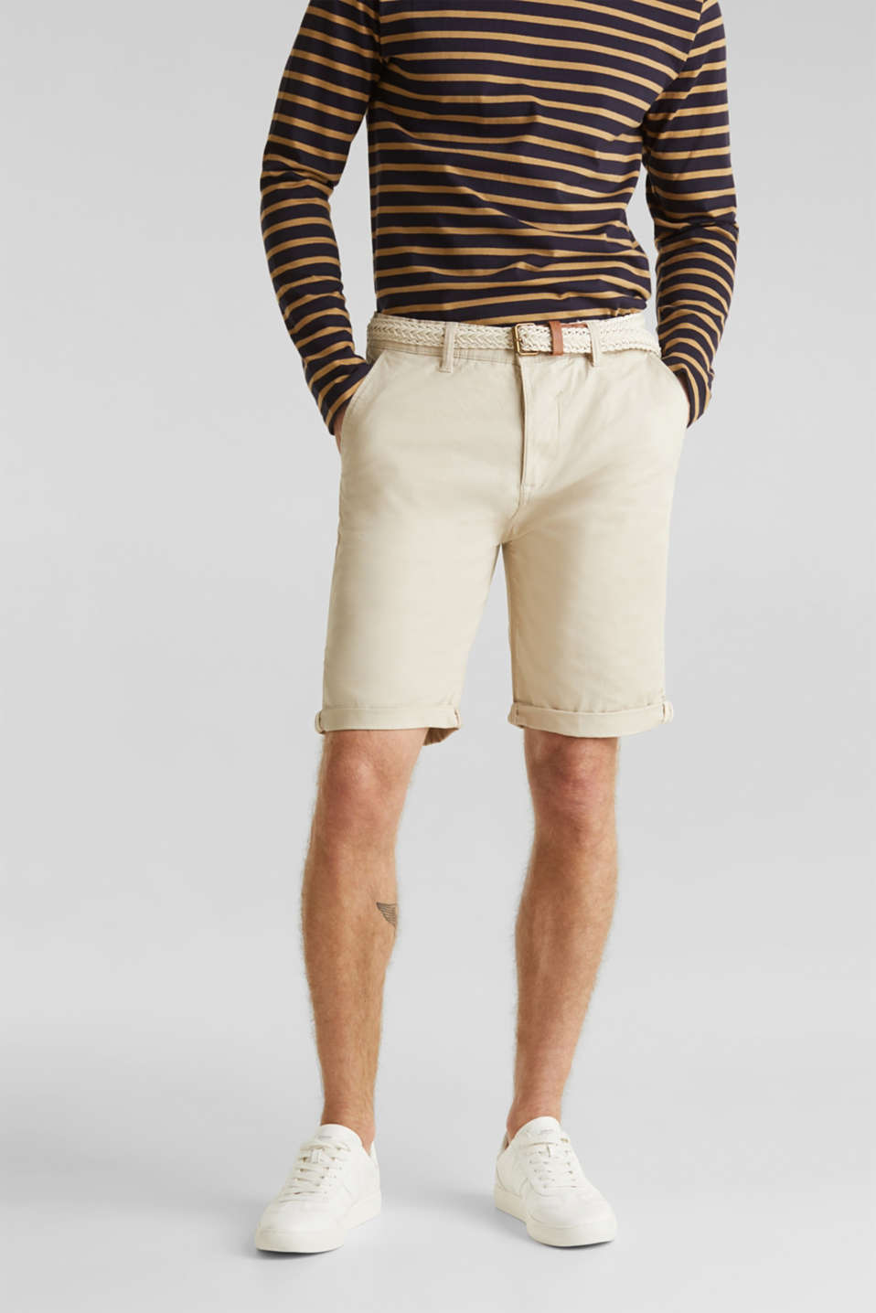 Esprit - Shorts with organic cotton