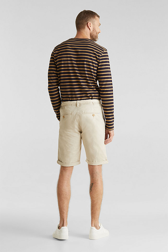 Shorts with organic cotton, LIGHT BEIGE, detail image number 3