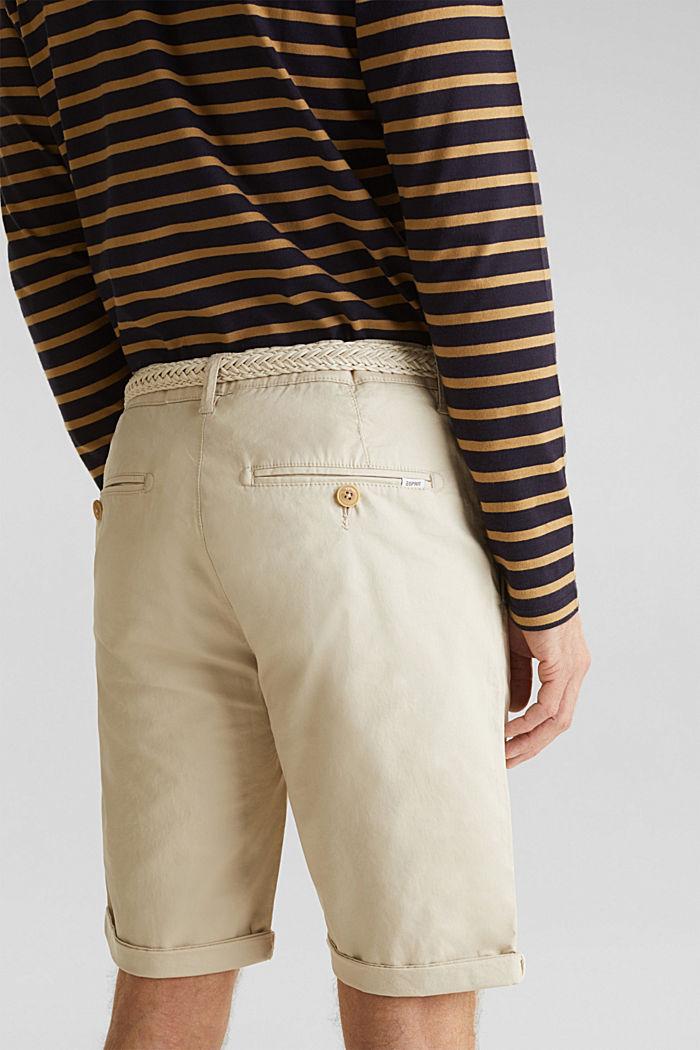 Shorts with organic cotton, LIGHT BEIGE, detail image number 5