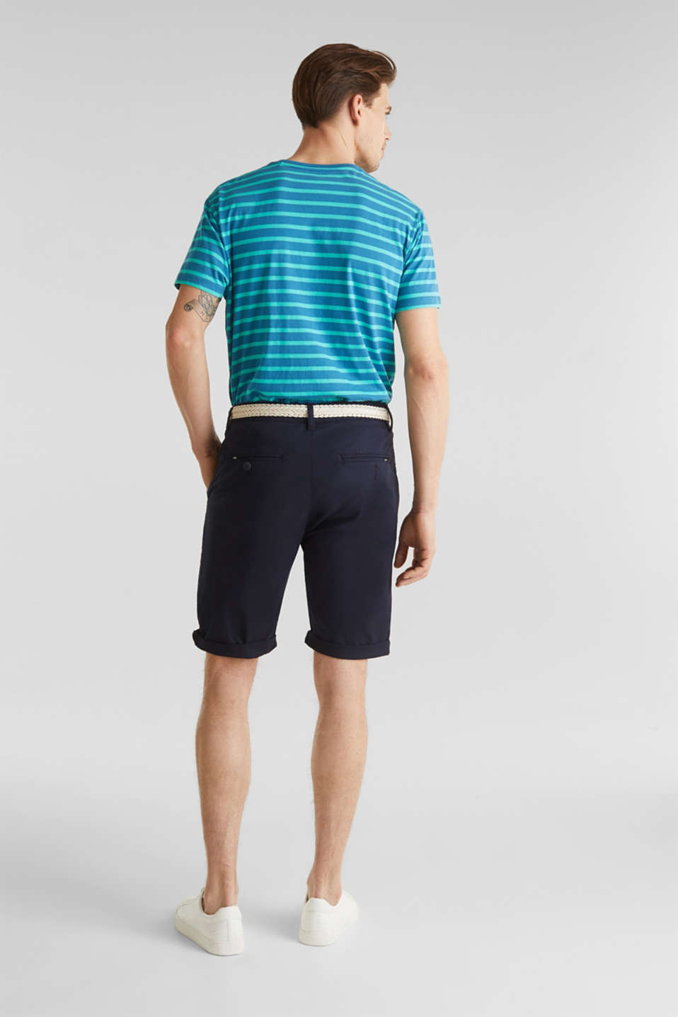 Shorts with organic cotton, NAVY, detail image number 3