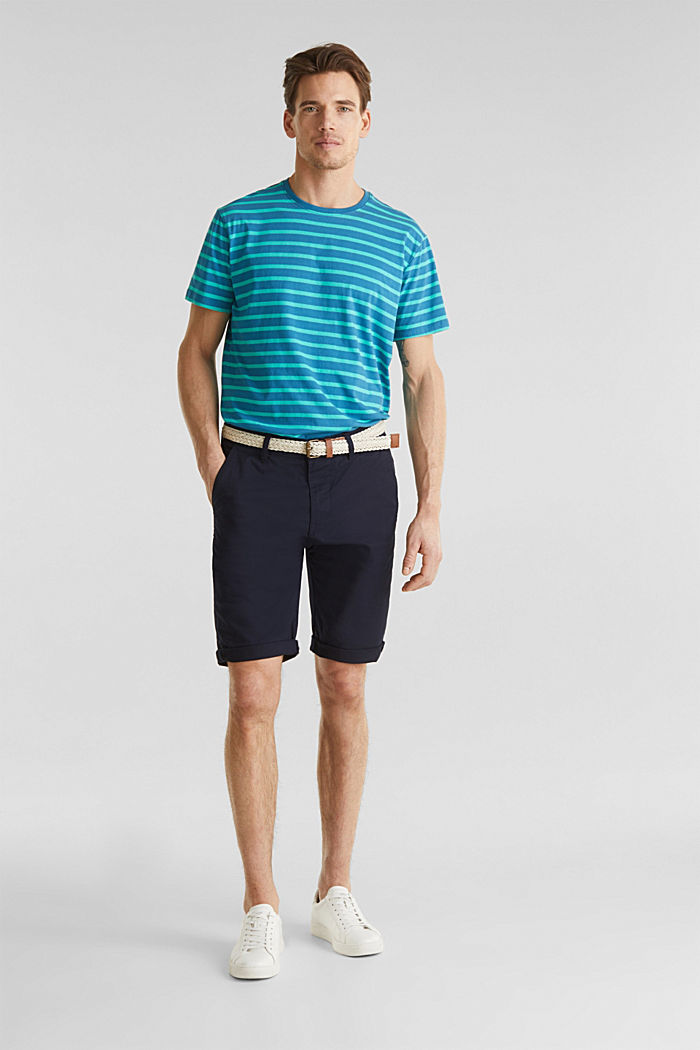 Shorts with organic cotton, NAVY, detail image number 1