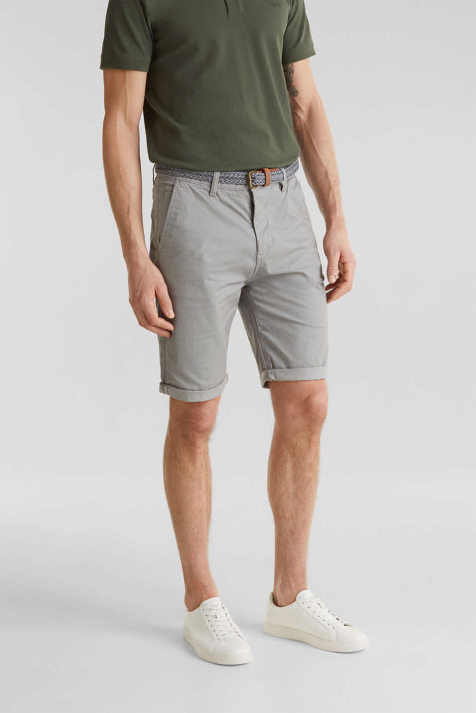 Shorts with organic cotton, MEDIUM GREY, detail image number 0