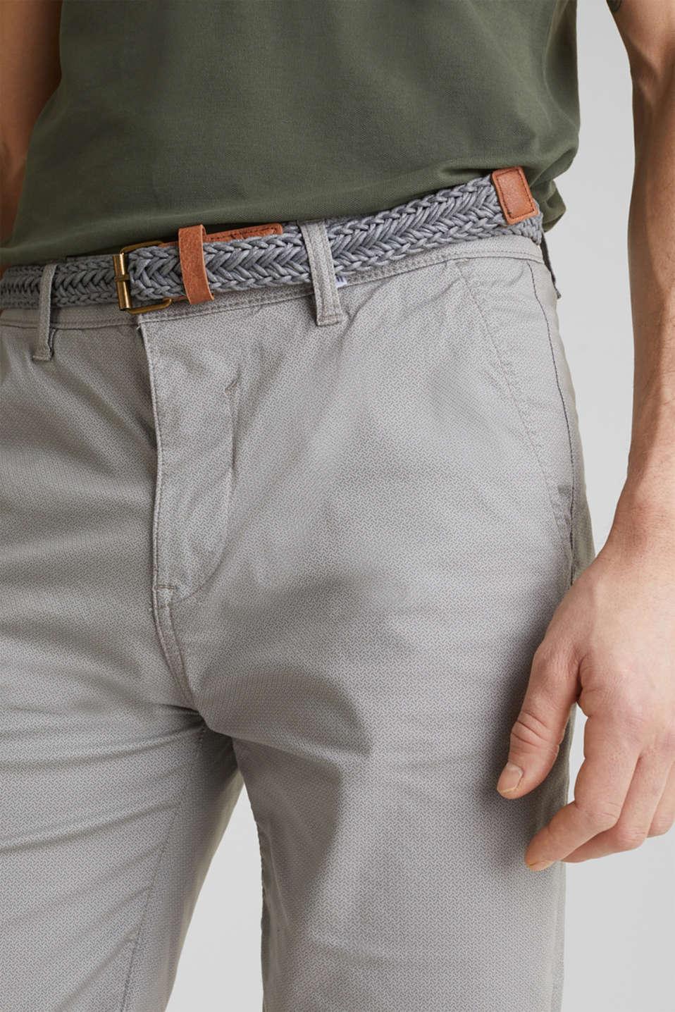Shorts with organic cotton, MEDIUM GREY, detail image number 2
