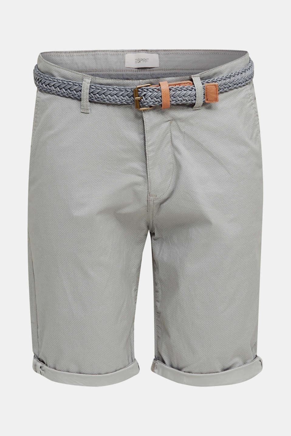 Shorts with organic cotton, MEDIUM GREY, detail image number 6