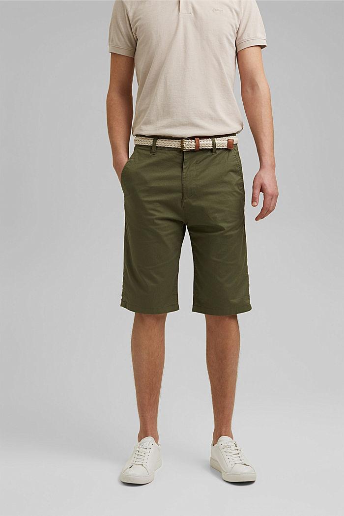 Shorts mit Gürtel, Organic Cotton