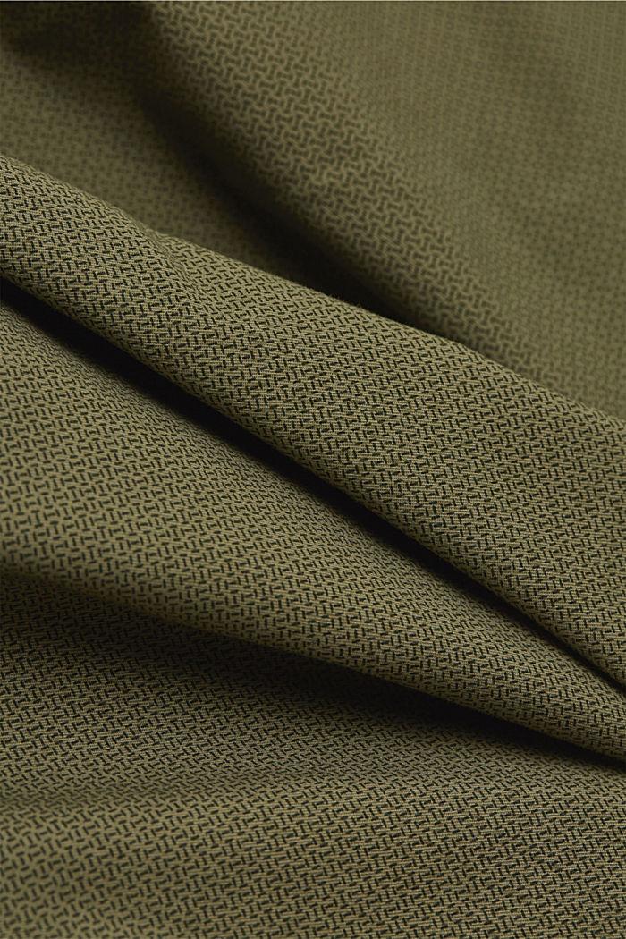 Shortsit ja vyö, luomupuuvillaa, OLIVE, detail image number 4