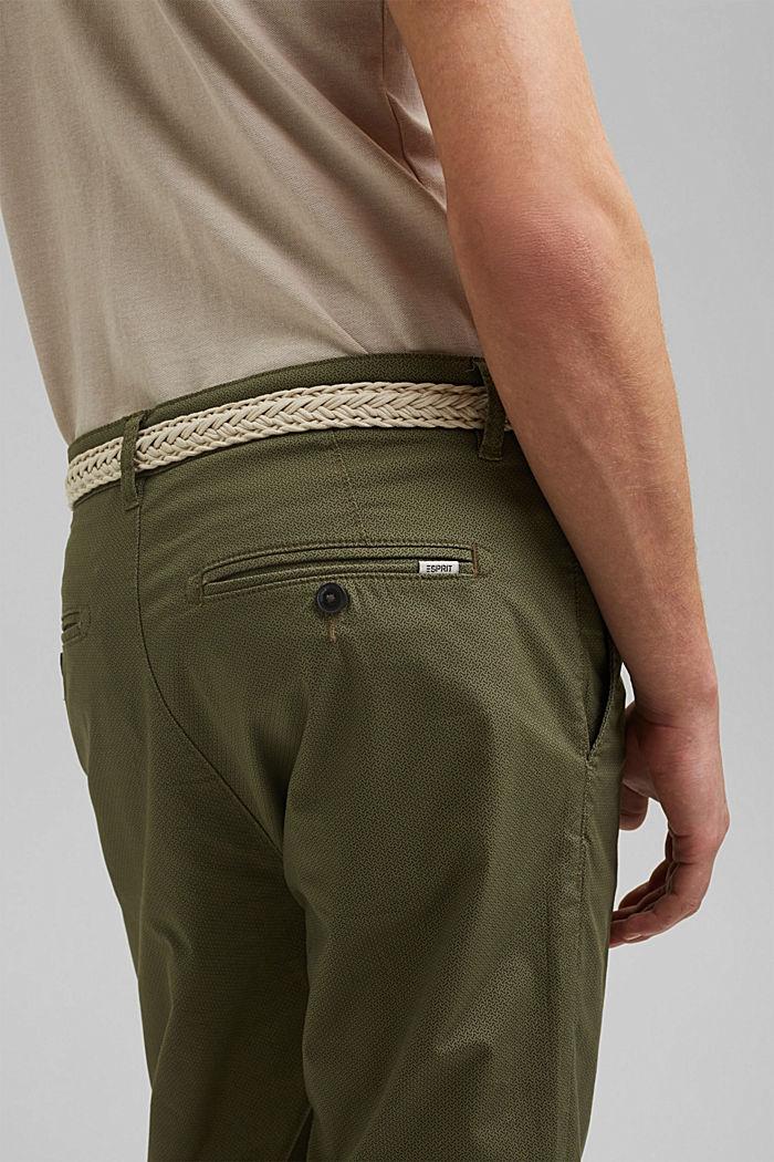 Shortsit ja vyö, luomupuuvillaa, OLIVE, detail image number 5