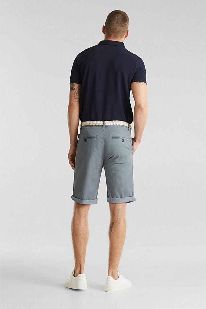 Organic cotton Shorts + belt, GREY BLUE, detail image number 3
