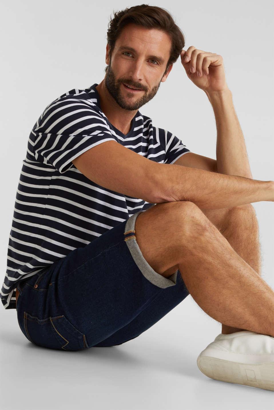Denim shorts with organic cotton, BLUE DARK WASH, detail image number 5