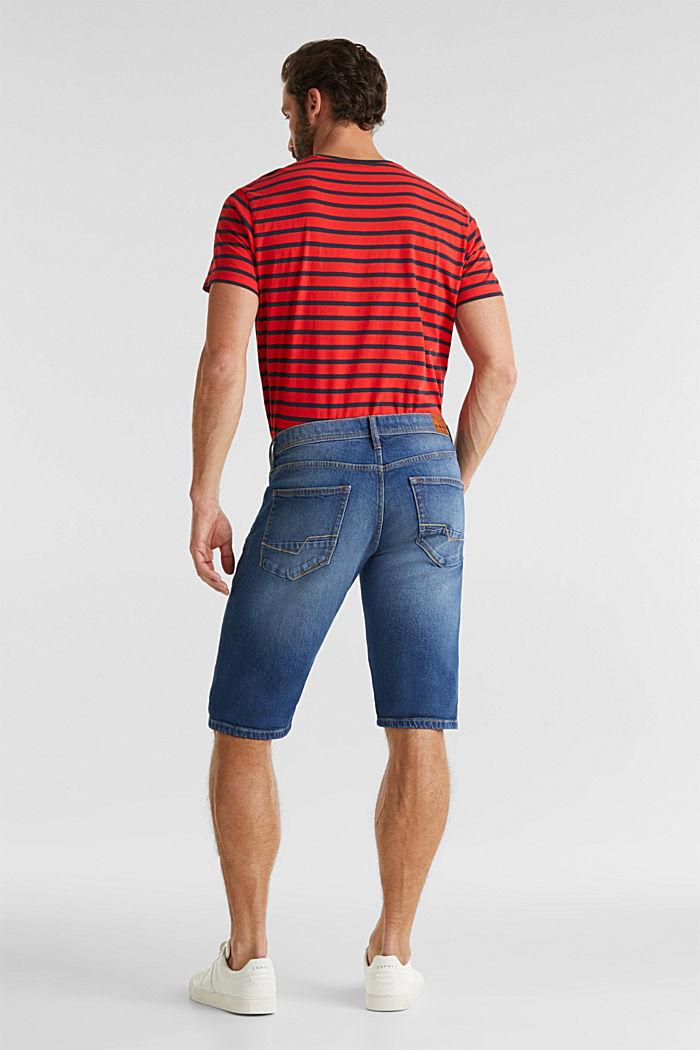 Denim shorts with organic cotton, BLUE MEDIUM WASHED, detail image number 3