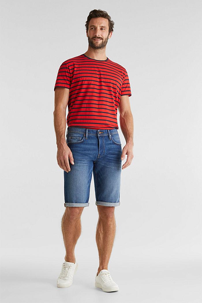 Denim shorts with organic cotton, BLUE MEDIUM WASHED, detail image number 1