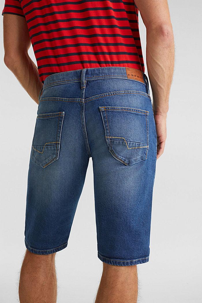 Denim shorts with organic cotton, BLUE MEDIUM WASHED, detail image number 5