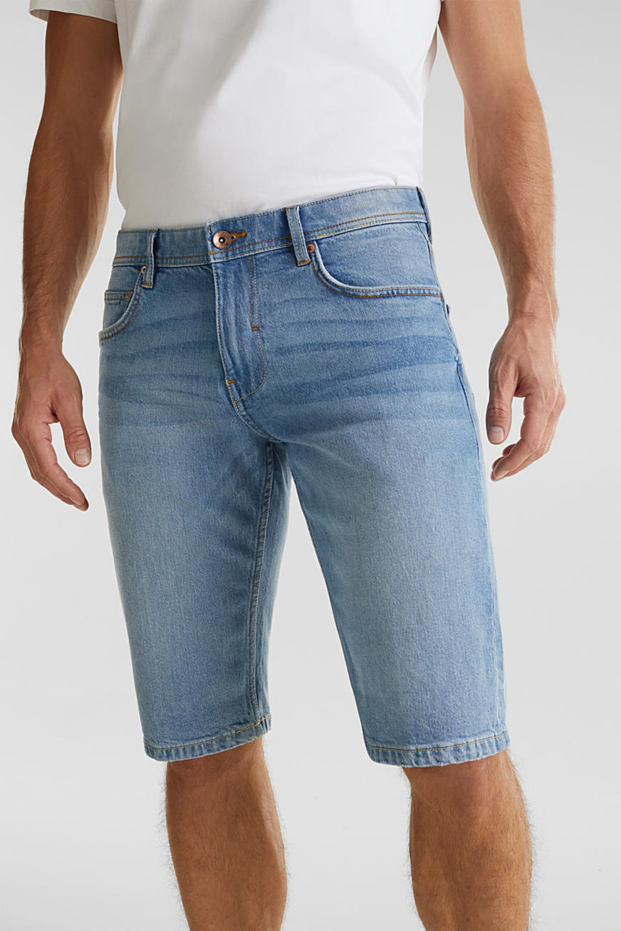 Shorts in denim con cotone biologico