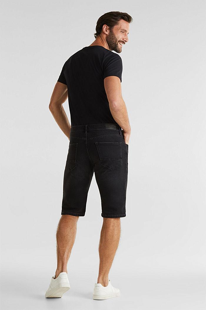 Denim shorts with organic cotton, BLACK MEDIUM WASHED, detail image number 3