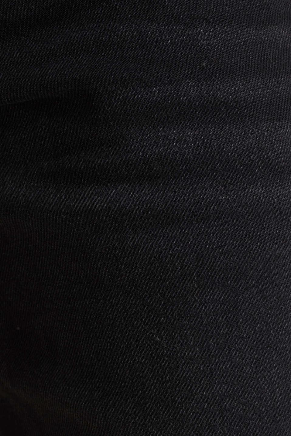 Denim shorts with organic cotton, BLACK MEDIUM WASH, detail image number 5