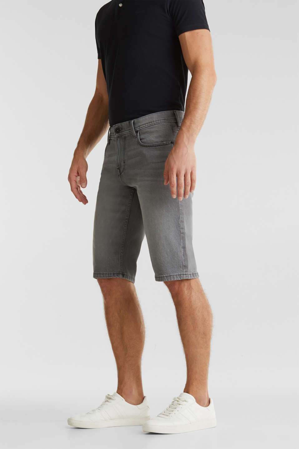 Esprit - Denim-Shorts mit Organic Cotton