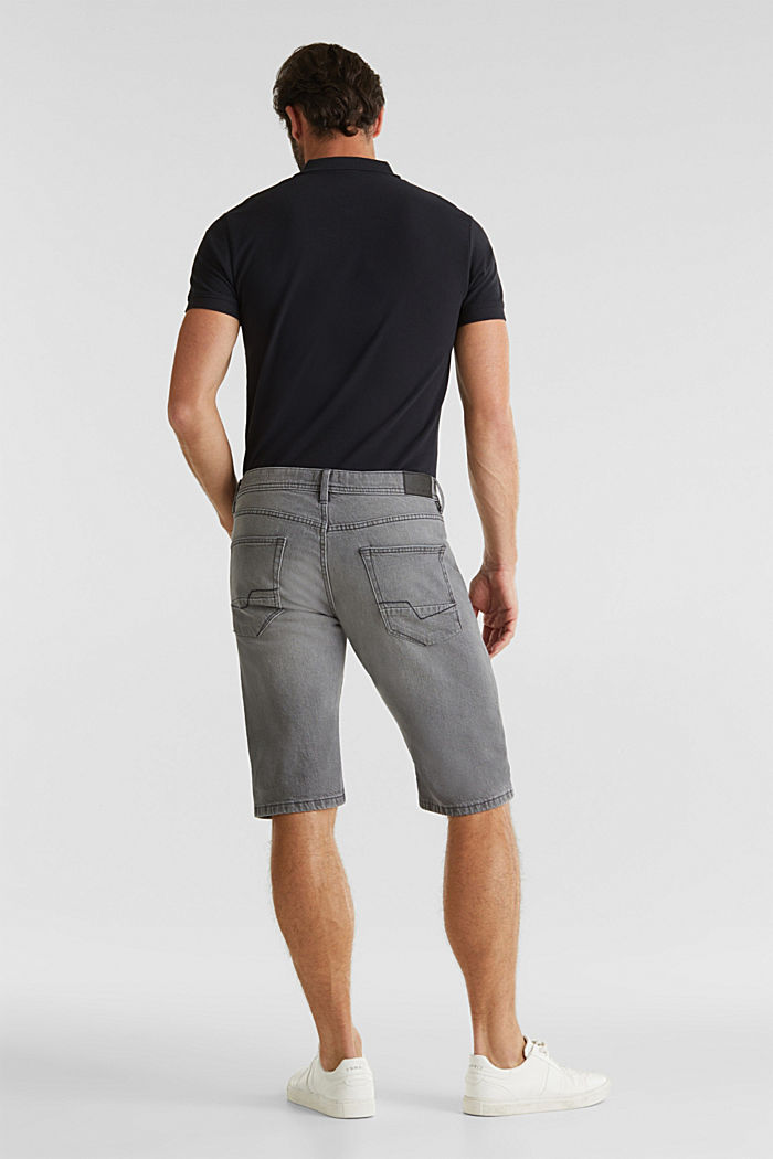 Denim-Shorts mit Organic Cotton, GREY LIGHT WASHED, detail image number 1