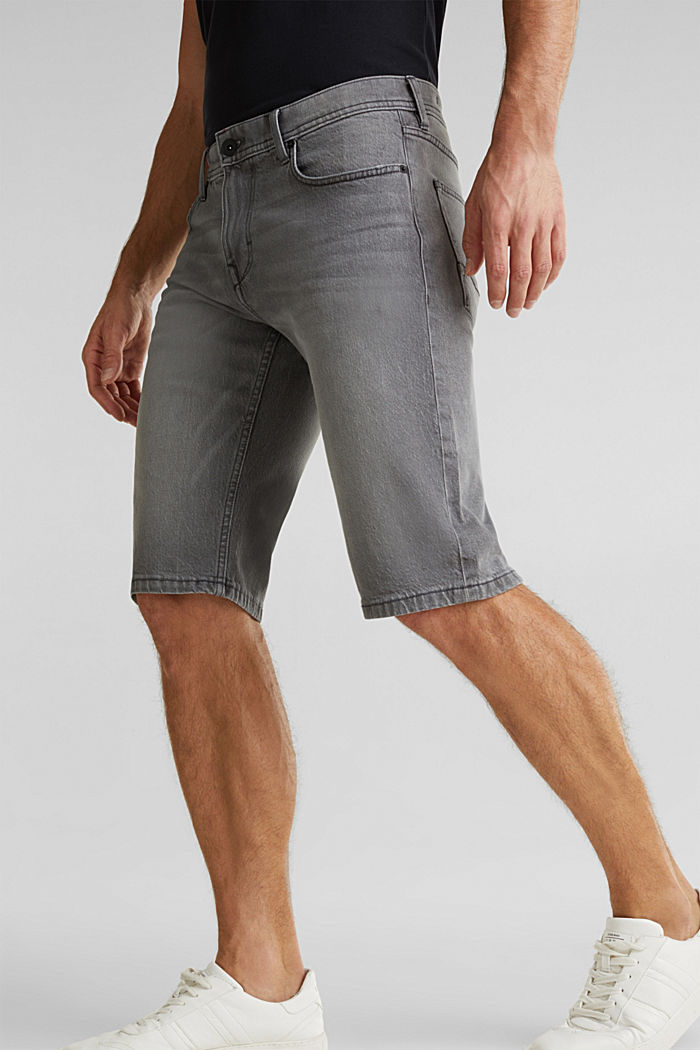 Denim-Shorts mit Organic Cotton, GREY LIGHT WASHED, detail image number 2