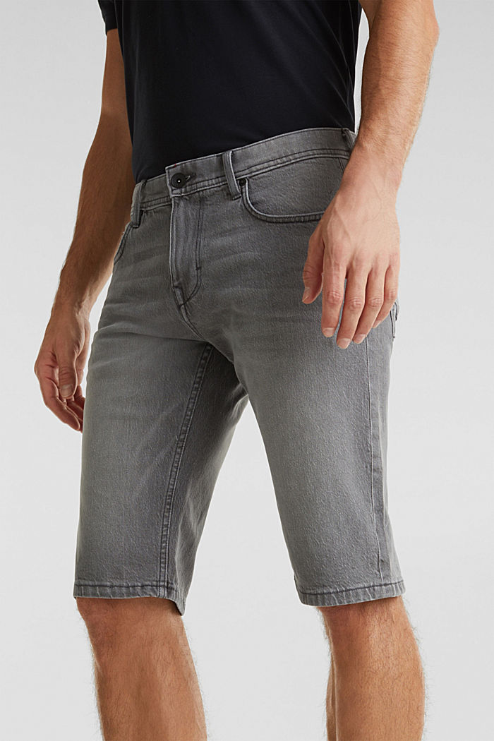 Denim-Shorts mit Organic Cotton, GREY LIGHT WASHED, detail image number 0