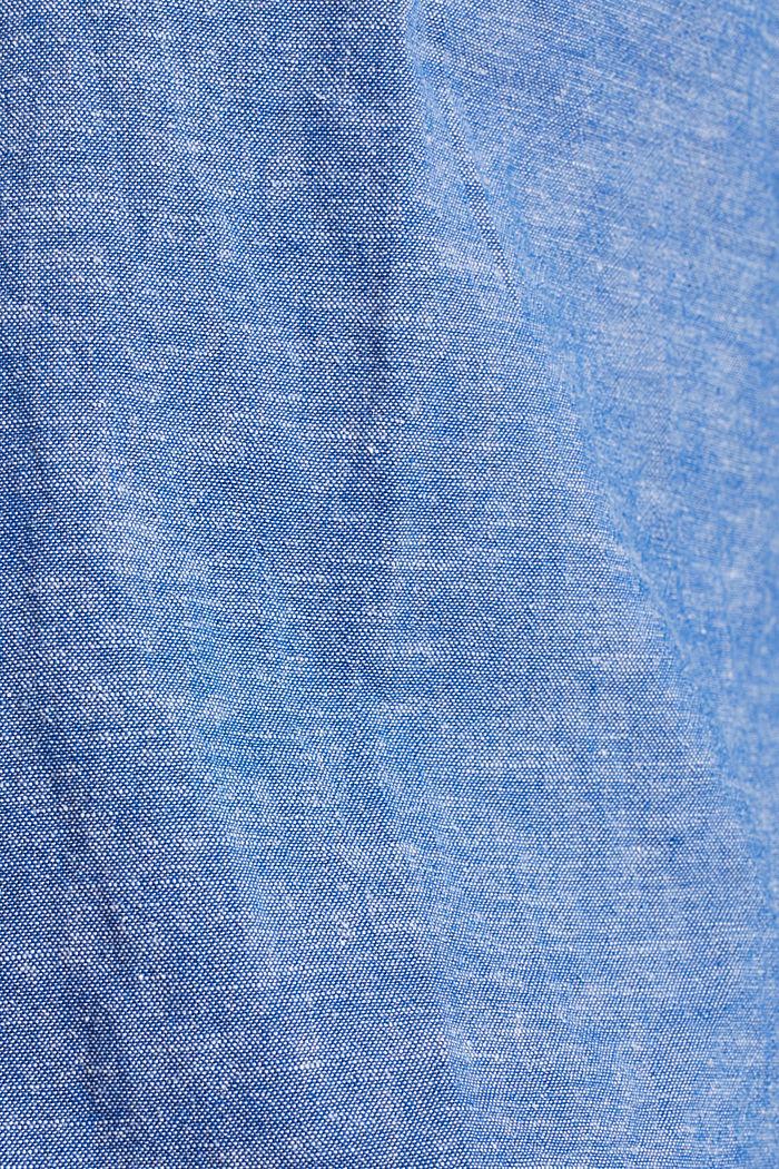 Mit Leinen: Button-Down-Hemd, LIGHT BLUE, detail image number 4