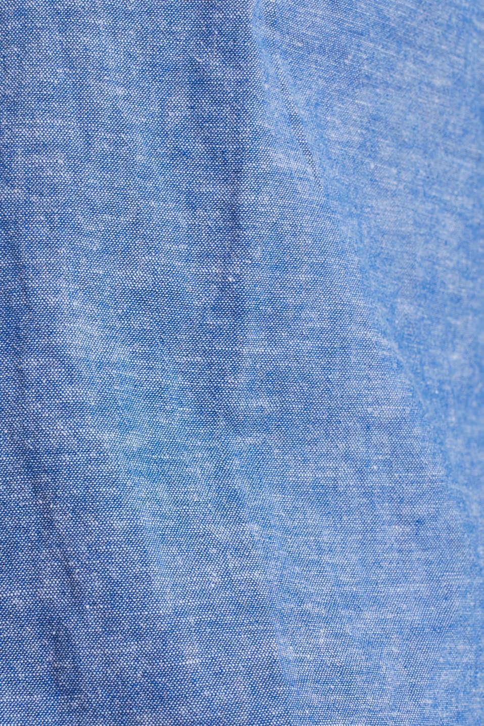 Blended linen: Melange button-down shirt, LIGHT BLUE 5, detail image number 3