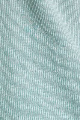 Blended linen: pinstripe shirt, GREEN 3, detail