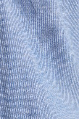 Blended linen: pinstripe shirt, LIGHT BLUE 3, detail