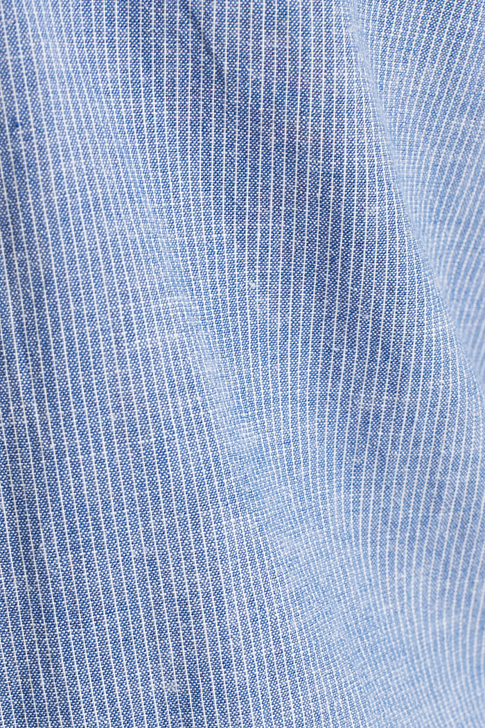 Blended linen: pinstripe shirt, LIGHT BLUE, detail image number 4