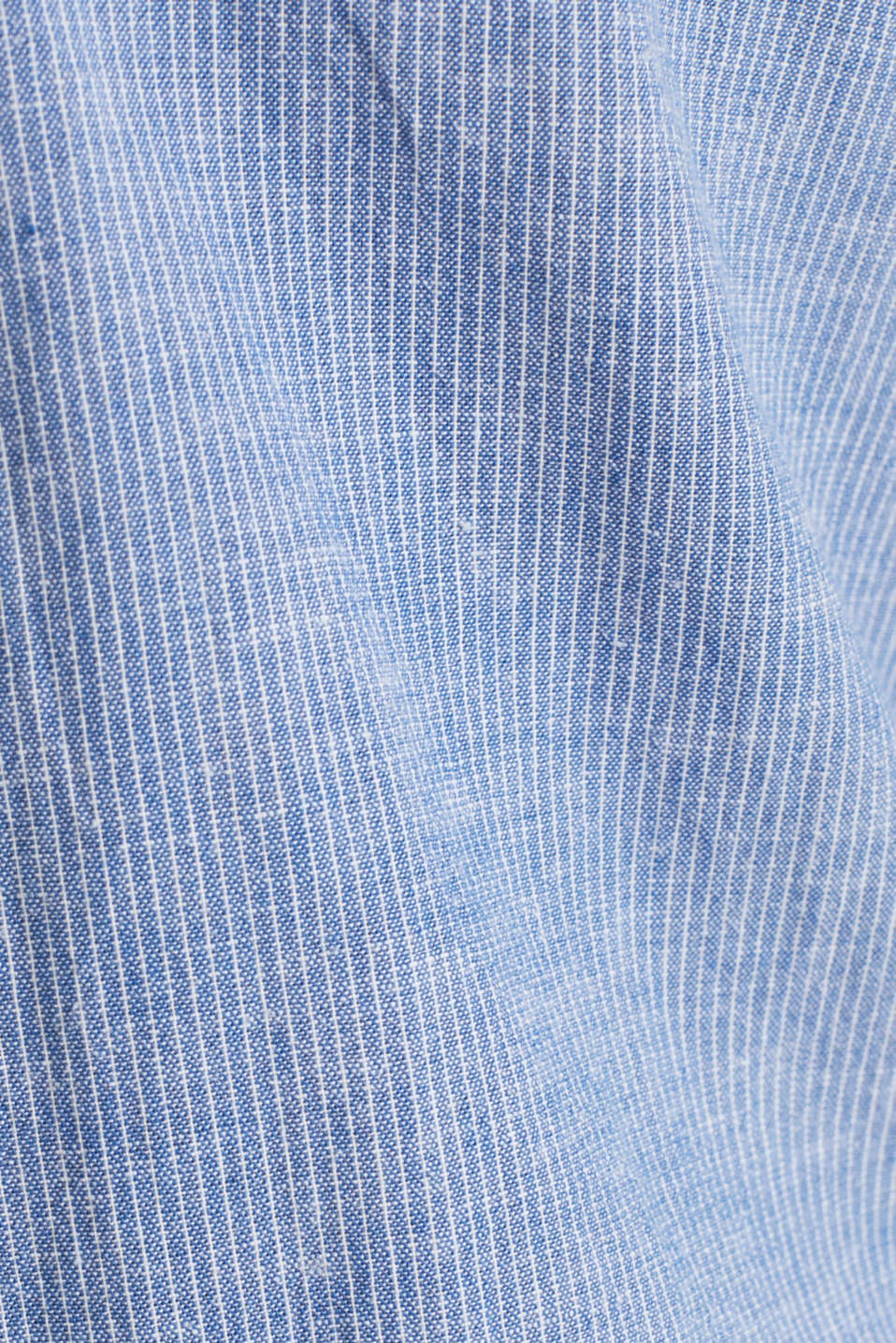 Blended linen: pinstripe shirt, LIGHT BLUE 3, detail image number 3