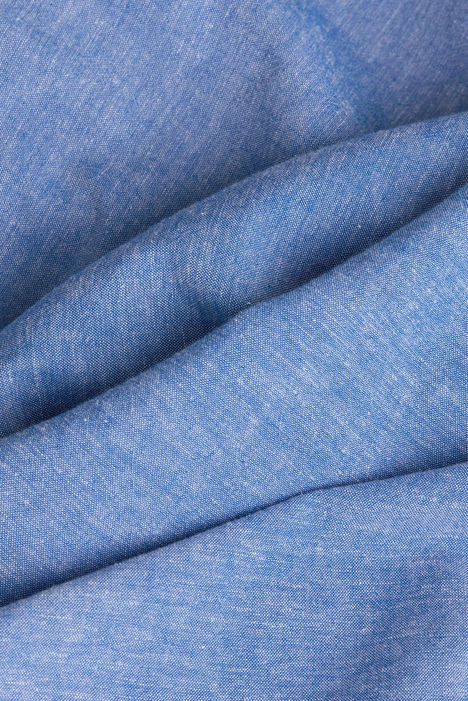 With linen: short-sleeved shirt, LIGHT BLUE 5, detail image number 4