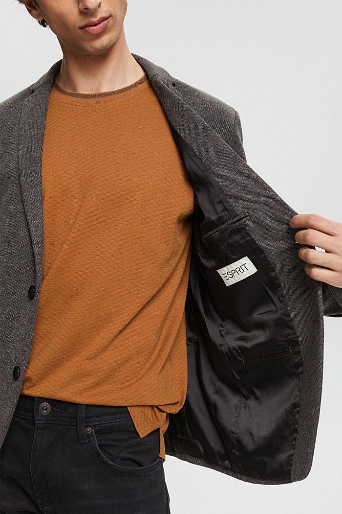 Sports jacket in a piqué finish, DARK GREY, detail image number 2
